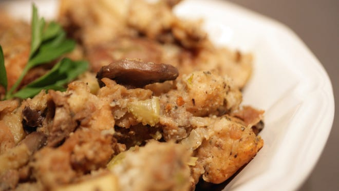 The apples set this stuffing apart from the traditional version, adding a sweet flavor and a little extra crunch.
