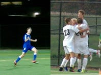 Hempfield defeated Conestoga Valley and Elizabethtown downed Warwick to punch their tickets to the 2016 L-L boys' soccer title game on Tuesday, October 18, 2016.