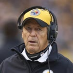 Nov 30, 2014: Pittsburgh Steelers defensive coordinator Dick LeBeau looks on from the sidelines against the New Orleans Saints during the third quarter at Heinz Field. The Saints won 35-32.