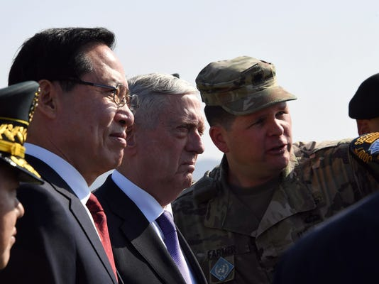 US Defense Secretary James Mattis Visits Panmunjom