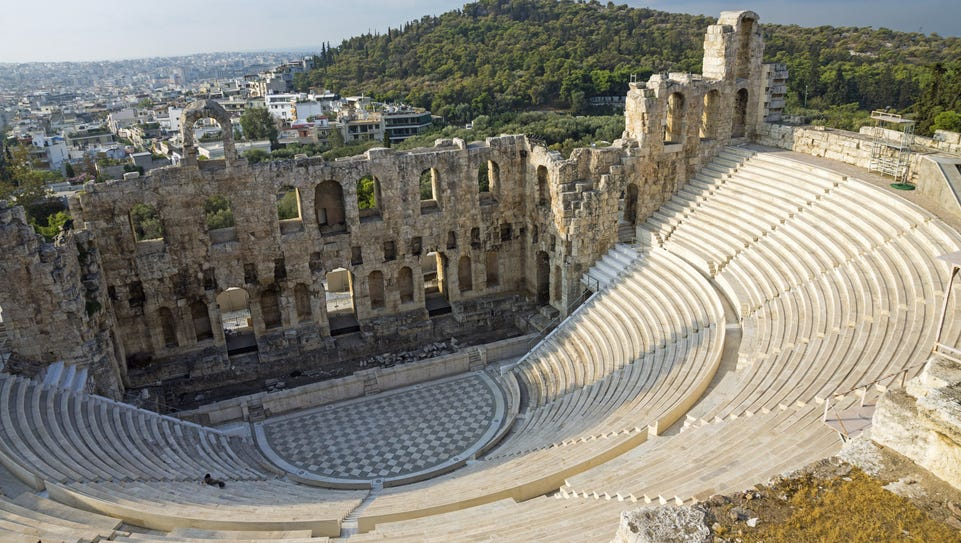 Greece: Ancient ruins, azure waters and whitewashed
