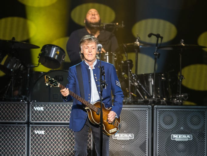 Sir Paul McCartney performs at Wells Fargo Arena Monday,