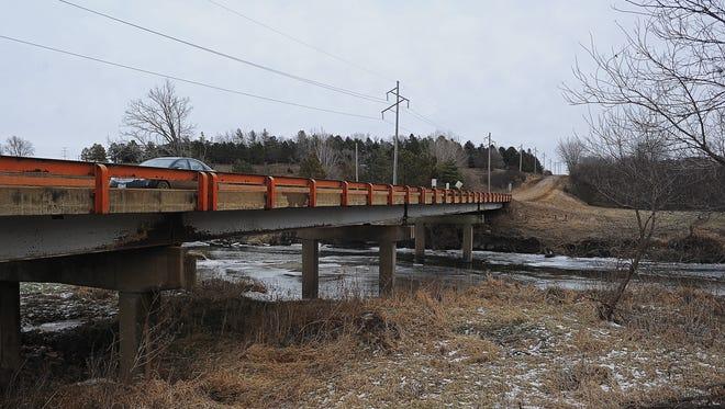 The Redwood Boulevard bridge over Split Rock Creek in northeast Brandon is scheduled to be replaced in 2016.