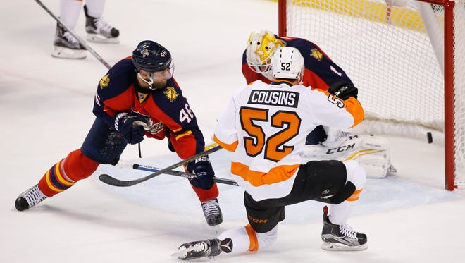 Nick Cousins tied the game for the Flyers, one of a few role players who didn't let the team go quietly.
