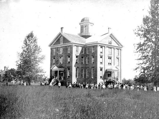 Waller Hall on the Willamette University campus in 1880.