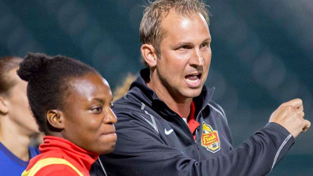 Scott Vallow, right, the former Rhinos goalkeeping star, has been added to the WNY Flash's staff as an assistant coach.