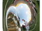UTEP marching band members were reflected in a tuba.