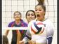 Chapin's Alyssa Lozoya, center, reacted to a free ball
