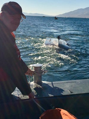 WCSO Search and Rescue Special Vehicle Unit Volunteers aboard Marine 10 rescued a boater from a sinking vessel on Pyramid Lake Saturday morning.