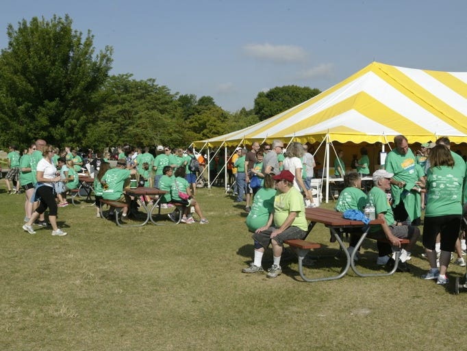 Hundreds gathered for the ninth annual There Is Hope Suicide Prevention Walk on Saturday at Deland Park.