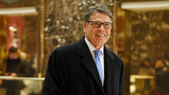 Former Texas Gov. Rick Perry has been nominated to be energy secretary.