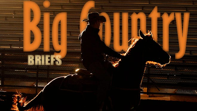 Justin Chalmers of Weatherford practices his cutting technique in the covered arena at the Taylor County Expo Center in preparation in between events at the Abilene Spectacular annual cutting event.