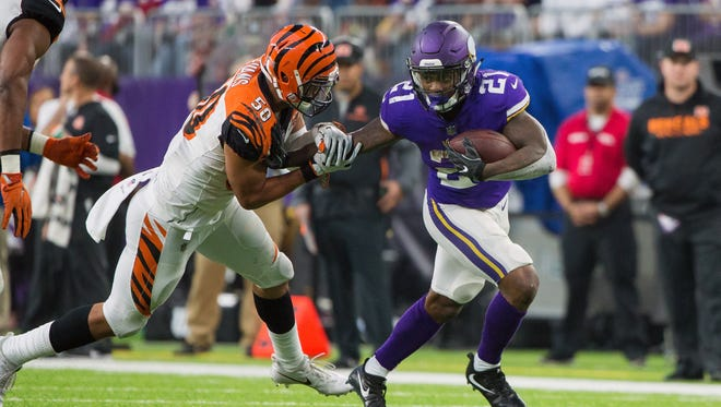 Vikings running back Jerick McKinnon only had eight touches in Week 16, but he should rebound Sunday against the Bears.