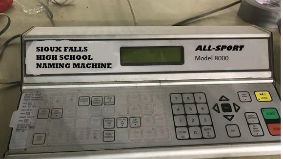 Sioux Falls High School Naming Machine