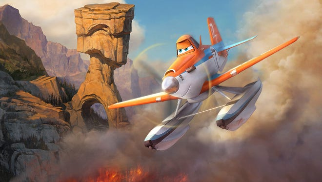 """Dusty is back in Disneytoon Studios'?? all new high-flying adventure """"Planes: Fire & Rescue,""""? now in theaters."""