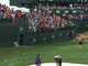 Fans litter the 16th hole at the TPC Scottsdale following