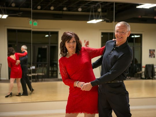 Sherrie Staheli, of Staheli Family Farm, and her dance