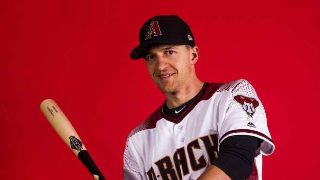 Nick Ahmed of the Arizona Diamondbacks poses on picture day at Salt River Fields, Tuesday, February 20, 2018.