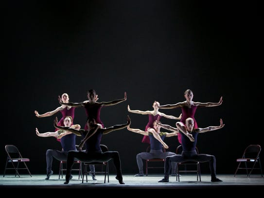 """A scene from Ballet Des Moines' """"Fixed Feelings"""" at"""