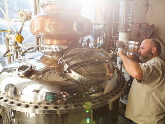 John Stivers operates a still in Buffalo Trace's experimental