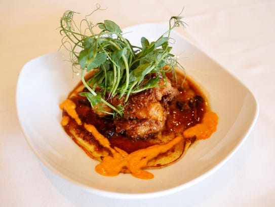 """The """"Music City"""" fried sweetbread at Lilly's Bistro."""