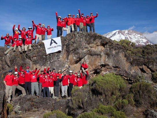 An Above+Beyond Cancer team summited Mount Kilimanjaro