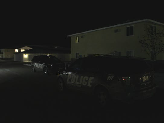Police responded to an apartment complex Thursday evening