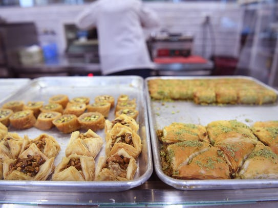 Baklava at Arenie in Cliffside Park on Tuesday, April,