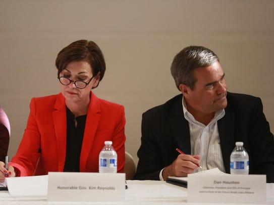 Iowa Gov. Kim Reynolds and Dan Houston, Principal CEO