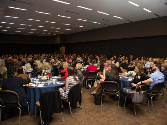 More than 250 people gathered for the inaugural women's