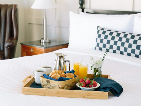 Breakfast in bed at The Charles.