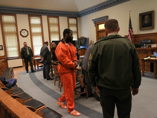 Lamar Wilson is pictured at the Johnson County Courthouse