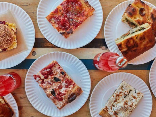 The many pizzas at Corner Slice