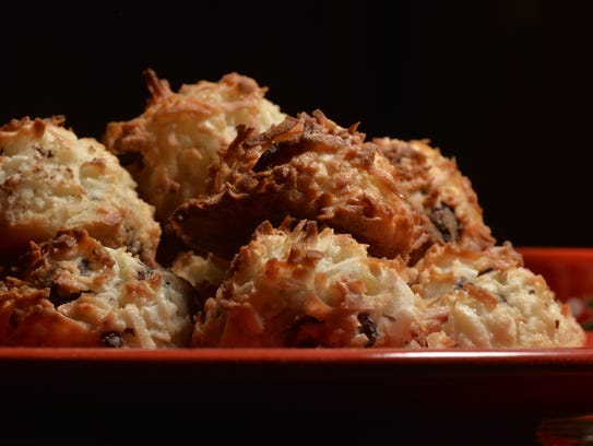 Coconut chocolate cherry macaroons (Photo: Adam Anik/NorthJersey.com ...