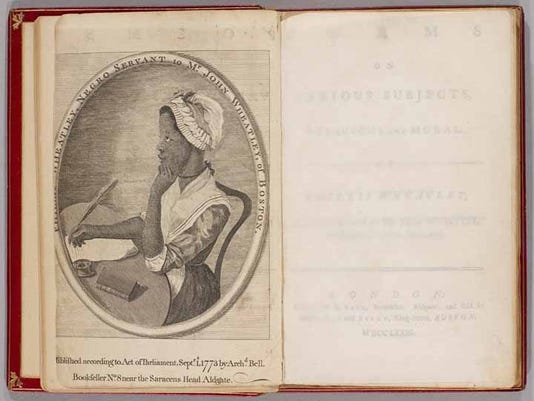 Phillis Wheatley's Poems on Various Subjects, Religious Moral, 1773