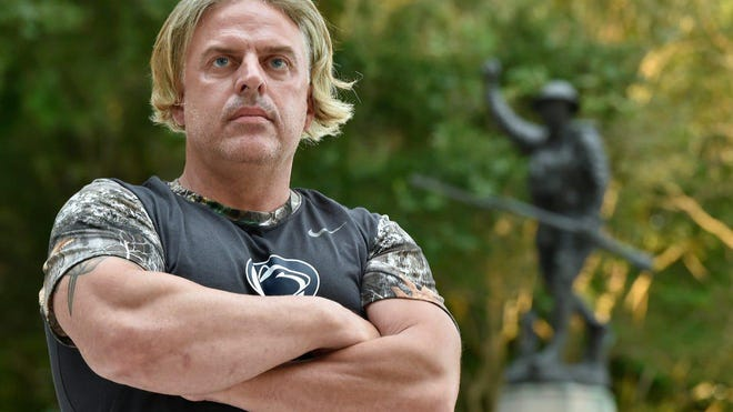 Greg Marra, whose works include a statue of Navy SEAL hero Chris Kyle and a Holocaust/WWII memorial, may be the only sculptor in America who's created a Confederate statue in the last five years. Photographed J.D. Hamel Park in Sarasota