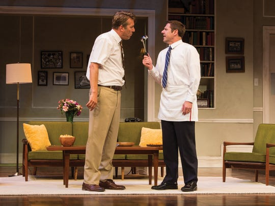"""David Ivers plays Oscar and Brian Vaughn plays Felix in the Utah Shakespeare Festival's 2016 production of """"The Odd Couple."""""""