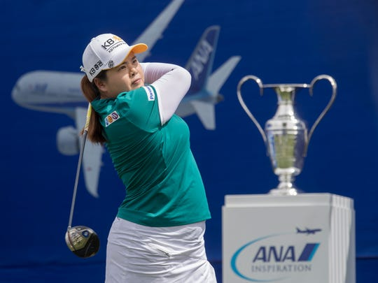 Inbee Park plays in the final round of the 2018 ANA