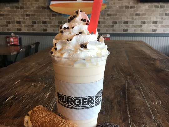 The cannoli shake from Burger 25 in Toms River.