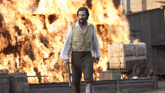 """This image released by STX Productions shows Matthew McConaughey in a scene from """"The Free State of Jones."""""""