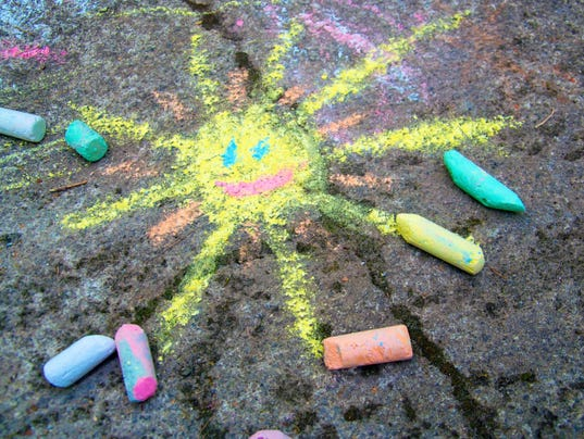 """Spark a Reaction"" Sidewalk Chalk Art"