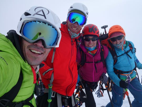 American members of a recent ski-mountaineering expedition