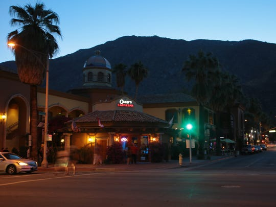Oscar's Cafe and Bar, in downtown Palm Springs, holds a popular tea dance party on Sunday evenings, October 16, 2017.