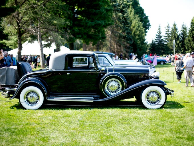 A1932 Chrysler Imperial Coupe is on display at the