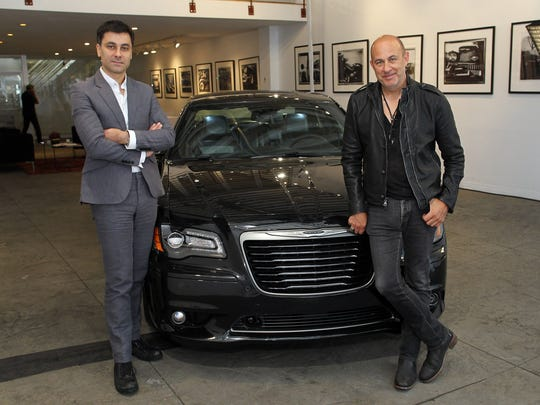 Chrysler Brand CEO Saad Chehab and designer John Varvatos introduce the 2013 Chrysler 300C John Varvatos Limited and Luxury Edition Vehicle at Cooper Classic Cars on Sept. 11, 2012, in New York City.