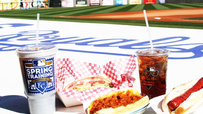 Along with traditional ballpark foods such as hot dogs, hamburgers and nachos are unique items, including the bacon mac and cheese dog.