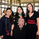 Shazia Bashir, Irum Rashid and Jena Melancon at the White Rose Luncheon to benefit FavorHouse.