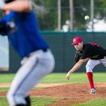 Voyagers pitcher, Zack Erwin, pitches during the 3rd inning of their July 4th game against the Missoula Osprey at Centene Stadium.