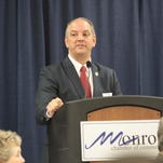 State Rep. John Bel Edwards addresses Monroe Chamber luncheon