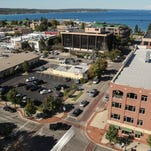A view of downtown Traverse City from Park Place Hotel is seen on Tuesday September 22, 2015.
